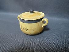 Ancien pot en terre peinte vide poche souvenir de Renage Isère vintage