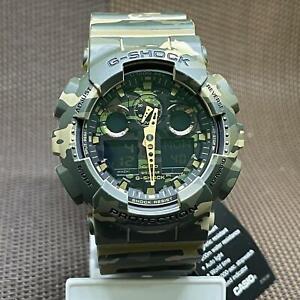 Casio G-Shock GA-100CM-5A Camouflage Patterns Analog Digital Men's Watch