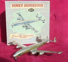 DINKY SUPERTOYS 60C AVION PLANE SUPER G CONSTELLATION avec BOITE D'ORIGINE RARE