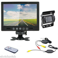 """Wireless Rear View Back up Camera Night Vision System + 9"""" Monitor for RV Truck"""