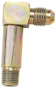 """LONGACRE PN 45220 90° Adapter Fitting - Steel - 1/8"""" NPT Male to 4AN Male"""