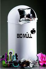 A 991 - Bio Müll Apfel Mülleimer Aufkleber Sticker Wandtattoo