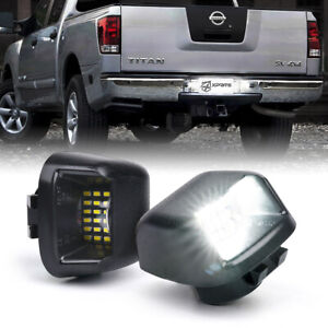 Xprite Black LED License Plate Light Assembly For Nissan Trucks Armada Frontier