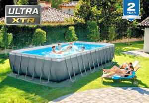 INTEX 24ft x 12ft x 52in Ultra XTR Frame Swimming Pool Set with Ladder Pump -79%