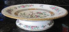 Antique Indian Tree Round Compote Minton China 1876