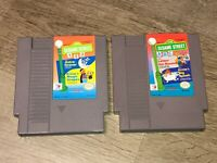 Sesame Street 123 & ABC 2 Game Lot Nintendo Nes Cleaned & Tested Authentic