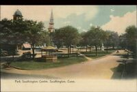 Southington CT Park Southington Centre c1910 Postcard