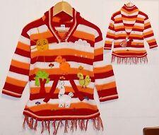 Pullover-Kleid rot orange, Gr. 98*104, Zipfelkapuze, Tiere Alpaka, Indianer Peru
