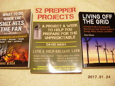 PREPPER SURVIVAL ~ 3 NEW Book Bundle ~ Disaster Survival Guide~ Off Grid Living