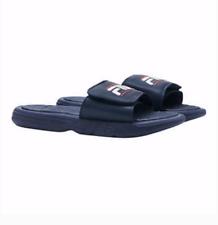 New Mens Adjustable Fila Slides Sandals Navy Blue Sizes 8 - 13