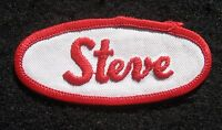 "STEVE EMBROIDERED SEW ON PATCH NAME PERSONAL 3 1/4"" x 1 1/2"""