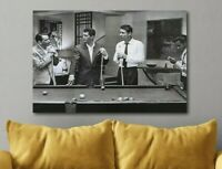The Rat Pack Playing Pool Canvas Poster Canvas Print Art Decor Wall FRAMED