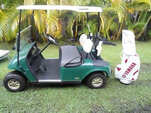 Ezgo Golf Cart and Charger with NEW Batteries and Golf Club bag