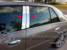 2006-2013 Cadillac DTS 4Pc Chrome Pillar Post Trim Stainless Steel Door Cover