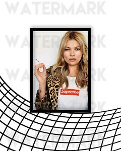 Supreme X Kate Moss Hypebeast Wall Art Iconic Poster A3