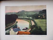 FINISTERE:Gravure 19°in folio couleur/ CHATEAULIN..LE CANAL DE NANTES A BREST
