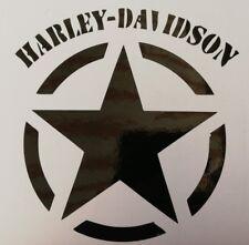 2 Stück Harley Davidson Logo Aufkleber in Schwarz10x10,3cm