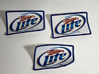 Miller Lite Beer Logo Sew On Patches Lot Of 3 Brand New