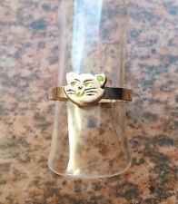 Ring Katze Kinderring 925 Silber Gr. 45  - 14,5 mm (83)