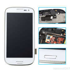 For Samsung Galaxy S3 i9300 Full LCD Display Digitizer Touch Screen Glass Frame