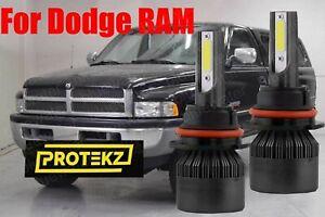 LED for Dodge RAM 2005-2010 Headlight Kit 9007 HB5 6000KWhite Bulbs Hi-Low Beam