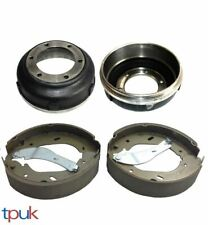 FORD TRANSIT 2.4 RWD MK6 BRAKE DRUMS & SET SHOES 00-06 TWIN WHEEL 6 STUD PAIR