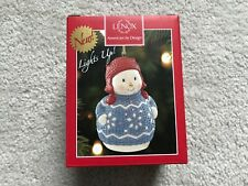 New In Box Lenox Snowman Christmas Sweater Lighted Ornament