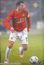 """RYAN GIGGS """"IN ACTION FOR MANCHESTER UNITED FOOTBALL"""" POSTER - Soccer"""