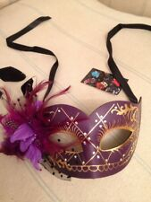 Purple Mask . Mascarade Or Ball Tie On Mask . Fancy Dress Mask. Also Black +pink