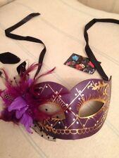 Purple Mask . Mascarade Or Ball Tie On Mask . Fancy Dress Mask.