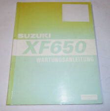 Suzuki xf 650 freewind workshop service repair manual.