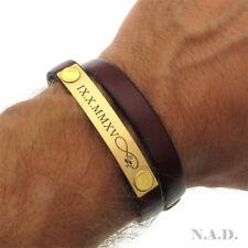 Personalized Leather Bracelet - Mens Birthday Gift - Wrap Bracelet - Fiance Gift