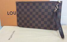 Louis Vuitton pochette damier ebene neverfull bag cluntch
