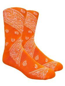LEAF Republic Bandana Print Socks Paisley Design Cotton