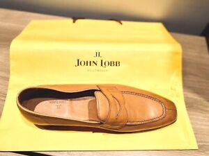 Brand New John Lobb handmade Ashley loafer Havana brown  leather -Left shoe only