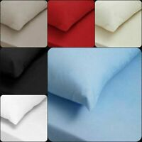 200 Thread Count Fitted Sheet Egyptian Cotton Flat Bed Sheets Pillowcases 2 Pack