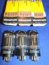 1 lampe 6AS7G National double square getter test NOS