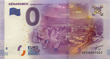 88 GÉRARDMER HAUTES-VOSGES BILLET 0 € ZERO EURO 2016 SOUVENIR BANKNOTE MONEY