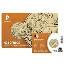 2016 Australia Mob of Roos ANDA Show Special $1 Coin - Perth 'P' Privymark