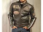 Blouson En Cuir pour Moto Homme,Vintage,Chopper,Biker Veste En Cuir,Taille S-5XL