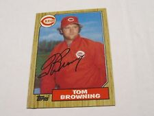 Tom Browing Topps Autographed Baseball Card