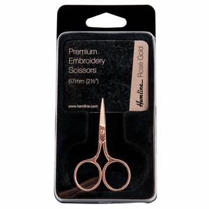 Hemline Rose Gold Scissor embroidery scissors 6.7cm 2.5 inch