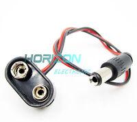 50 pcs Battery Power Cable Plug Clip 9V DC Barrel Jack Connector Arduino DIY NEW