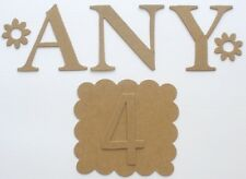 "4"" MONOGRAM Chipboard Letters - Large Tall Alphabets - YOU CHOOSE ANY 4"