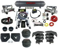 Complete 3 Preset Height Level Ride Air Suspension Kit GM C10 73-87  580 Chrome