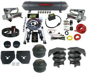 Complete 3 Preset Height Level Ride Air Suspension Kit w/580 Chrm For 73-87 C10