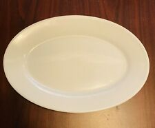 "Oneida Oval Bright White Plate Small Platter 11.5 X 8.25 "" Ironstone"