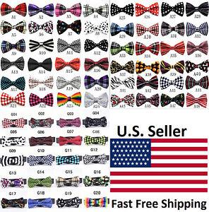 6pcs Mixed-style Fashion Men's Adjustable Tuxedo Bowtie Wedding Bow Tie Necktie