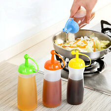 Hot Kitchen Oil Leakproof Seal Vinegar Seasoning Sauce Ketchup Pot Honey Bottle