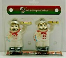 Bye Bye Chicago Style Salt and Pepper shakers Pizza Chef
